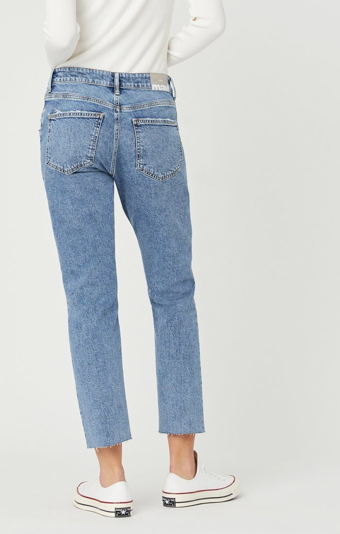 VIOLA STRAIGHT LEG JEANS IN INDIGO RECYCLED BLUE Image 5