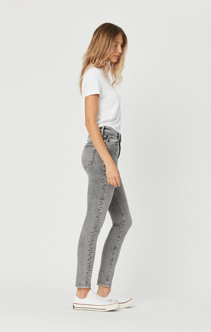 SCARLETT SKINNY JEANS IN LIGHT GREY DENIM Image 4