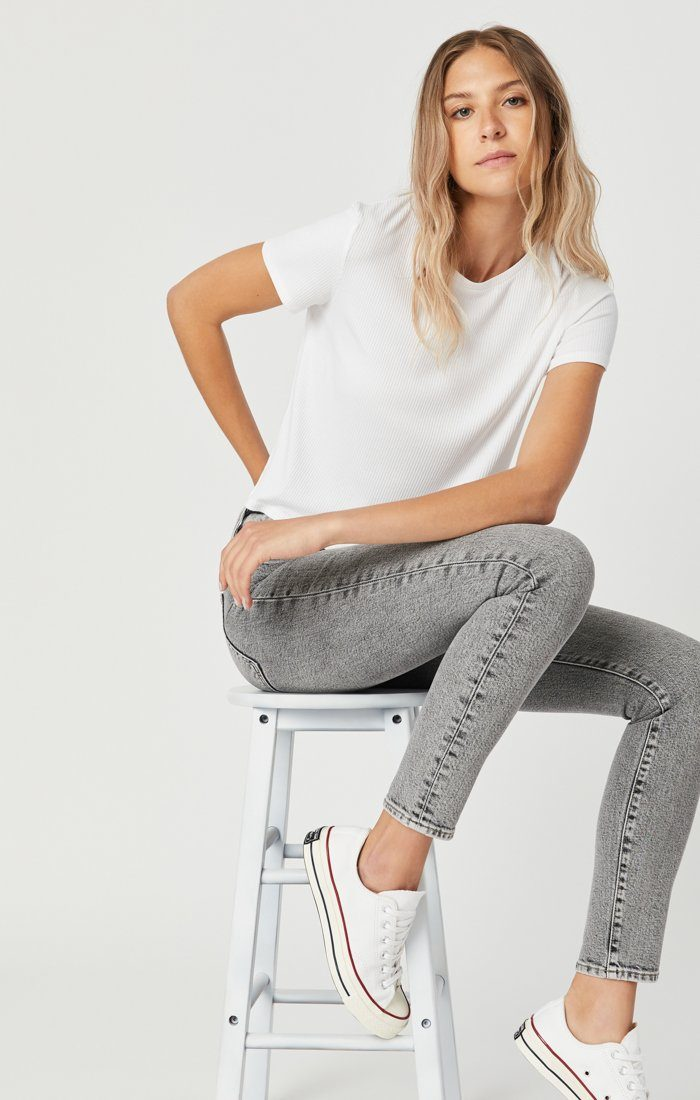SCARLETT SKINNY JEANS IN LIGHT GREY DENIM Image 1