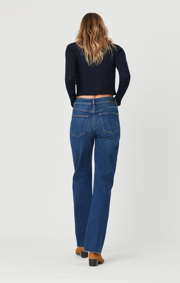 VICTORIA WIDE LEG JEANS IN DARK USED 90'S Image 4