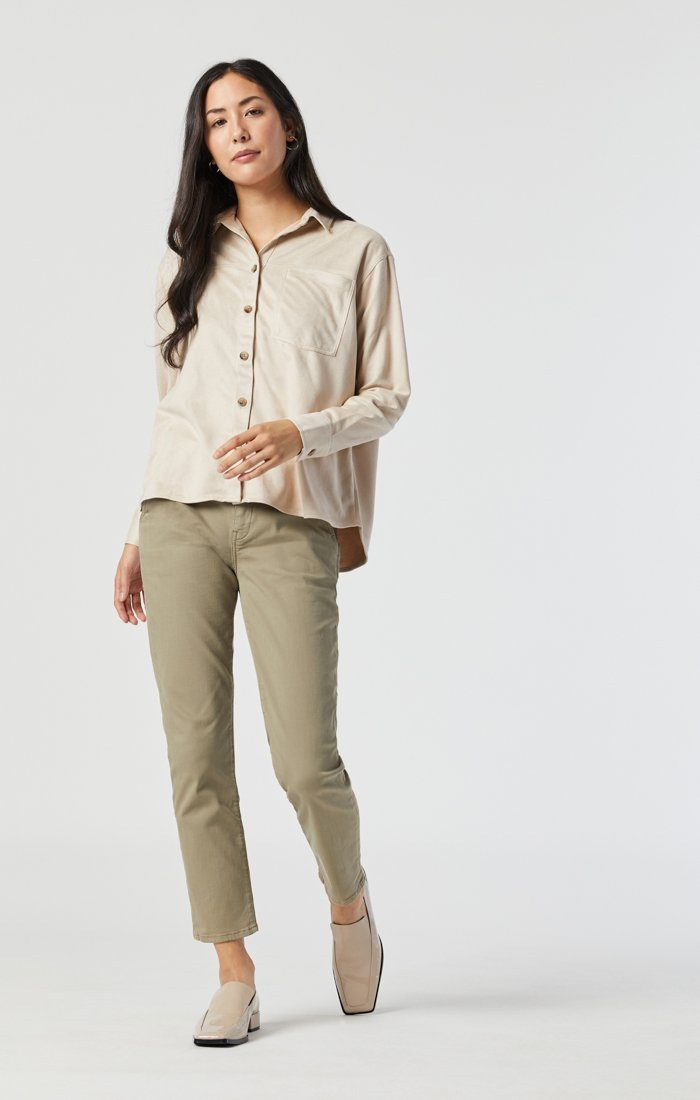 NORAH SLIM CHINO IN VETIVER TWILL Image 1