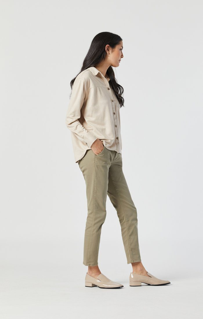 NORAH SLIM CHINO IN VETIVER TWILL Image 4