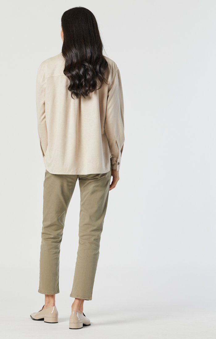NORAH SLIM CHINO IN VETIVER TWILL Image 2