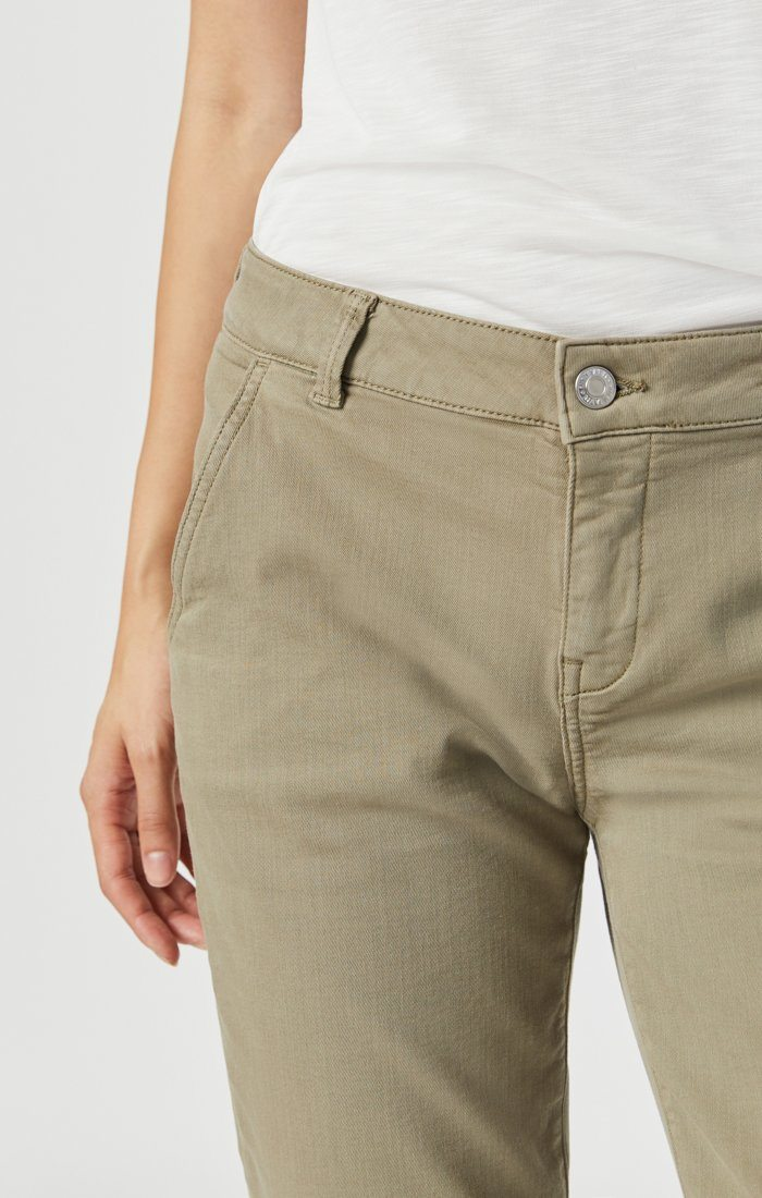 NORAH SLIM CHINO IN VETIVER TWILL Image 5