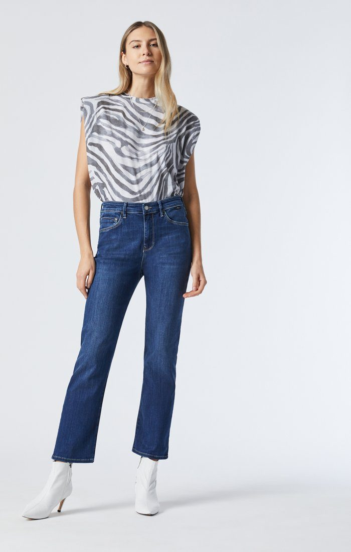 VERONICA STRAIGHT LEG JEANS IN DARK USED SUPERSOFT Image 5