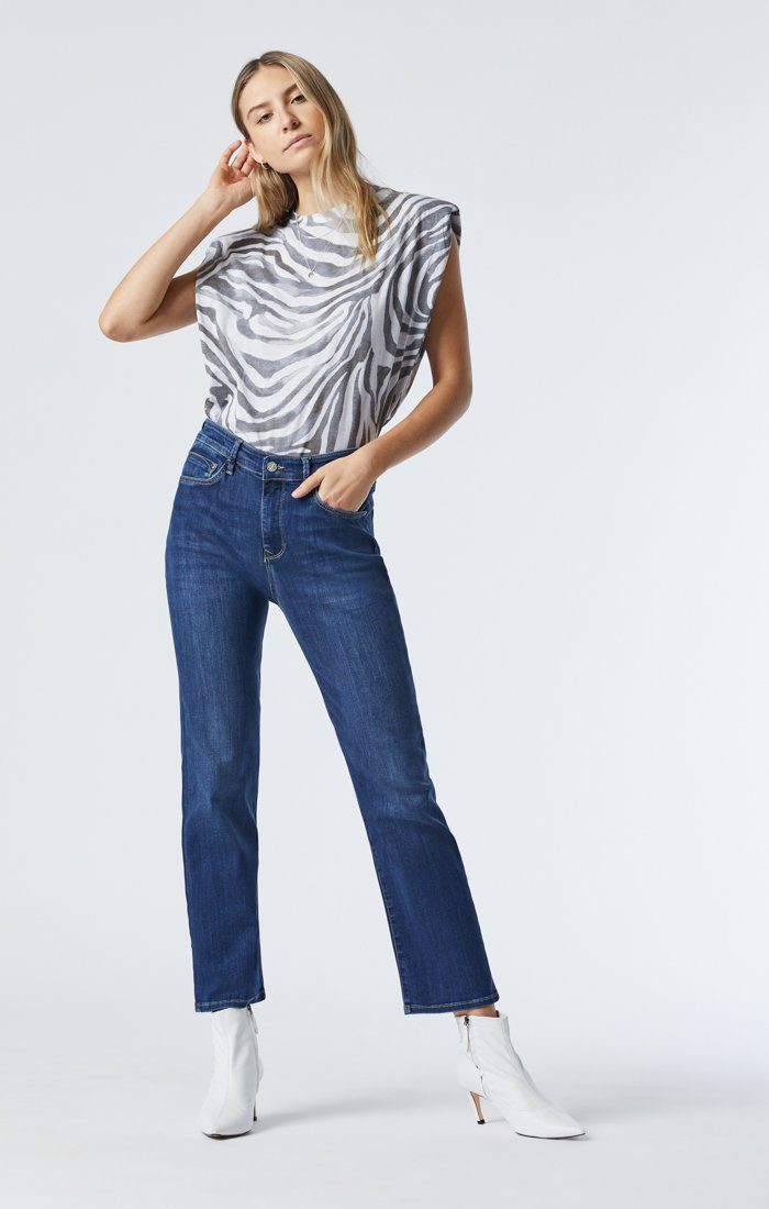 VERONICA STRAIGHT LEG JEANS IN DARK USED SUPERSOFT Image 2
