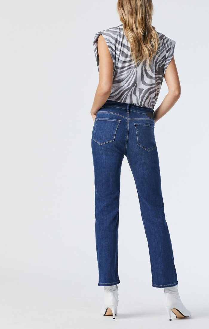 VERONICA STRAIGHT LEG JEANS IN DARK USED SUPERSOFT Image 4