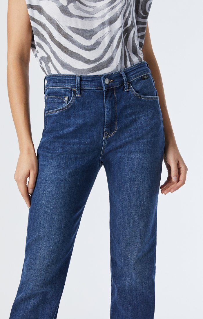 VERONICA STRAIGHT LEG JEANS IN DARK USED SUPERSOFT Image 3