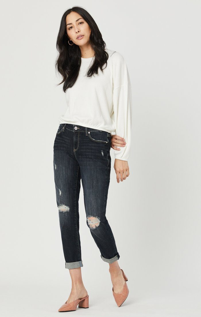 ADA BOYFRIEND JEANS IN SMOKY RIPPED VINTAGE Image 1