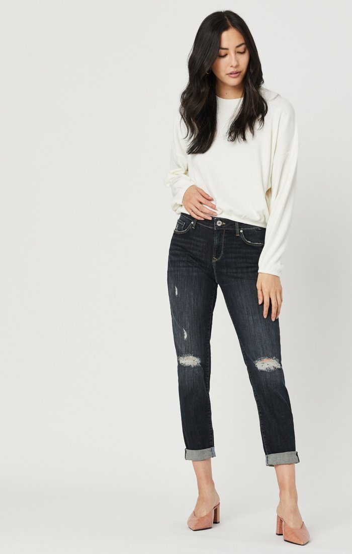 ADA BOYFRIEND JEANS IN SMOKY RIPPED VINTAGE Image 3