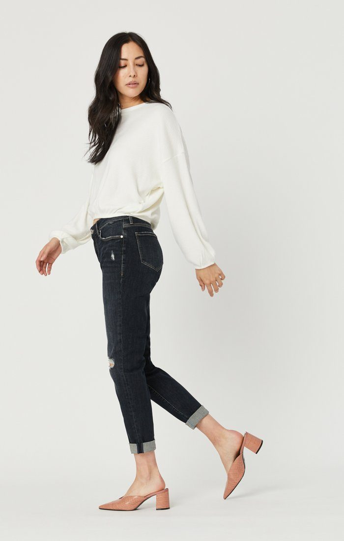ADA BOYFRIEND JEANS IN SMOKY RIPPED VINTAGE Image 5