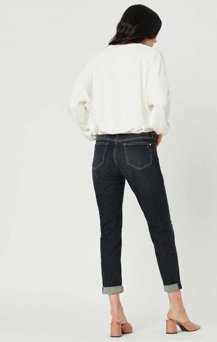 ADA BOYFRIEND JEANS IN SMOKY RIPPED VINTAGE Image 4