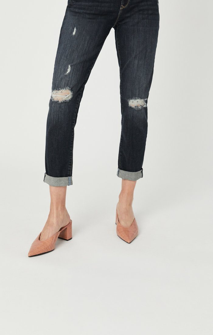 ADA BOYFRIEND JEANS IN SMOKY RIPPED VINTAGE Image 6