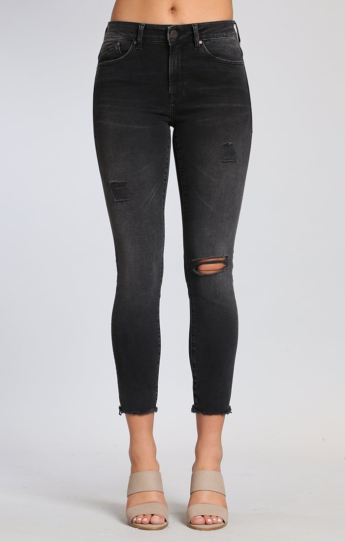 ALISSA ANKLE SUPER SKINNY IN SMOKE RIPPED NOLITA - Mavi Jeans