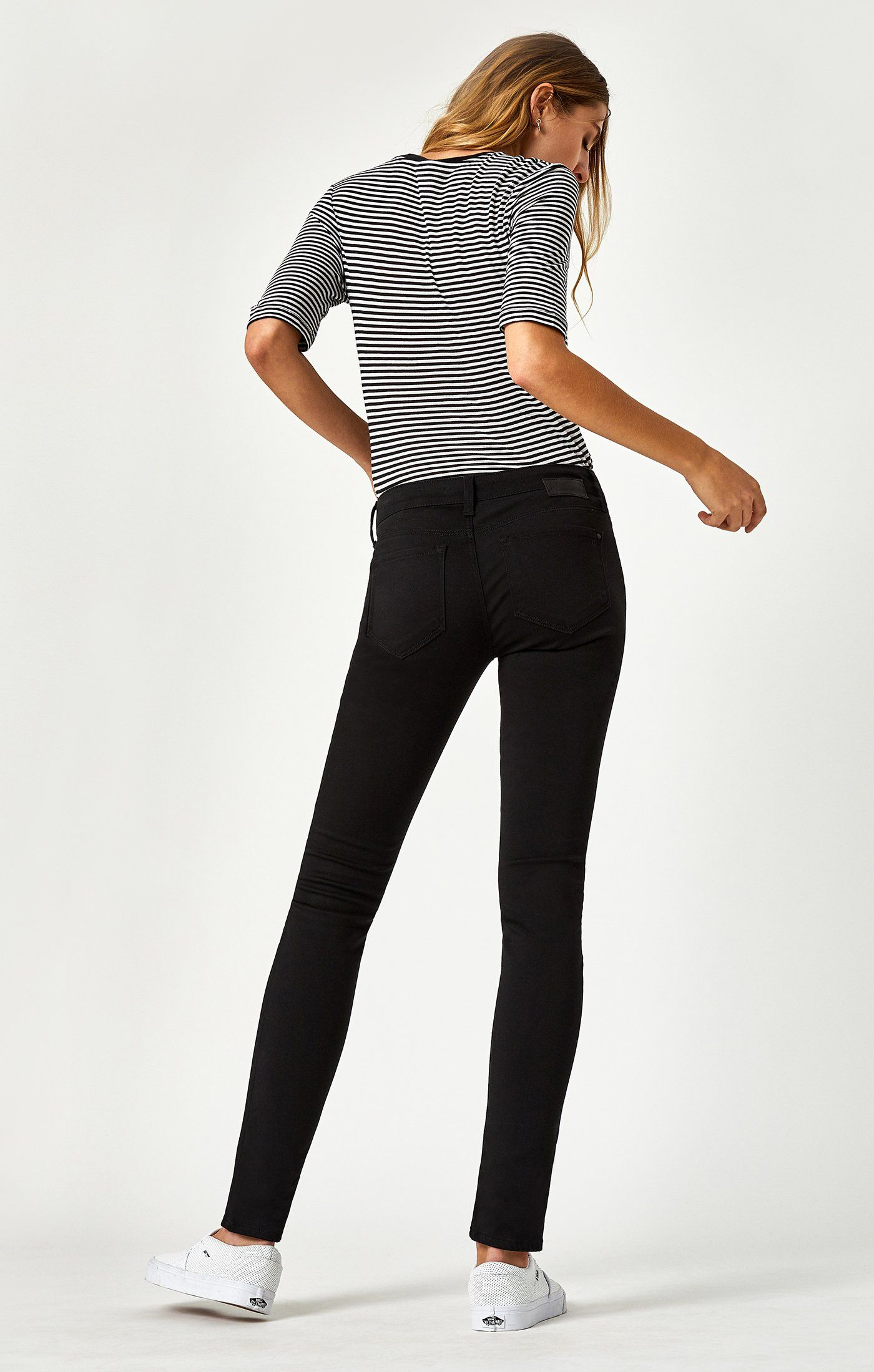 Image of Mavi Alexa Skinny In Jet Black