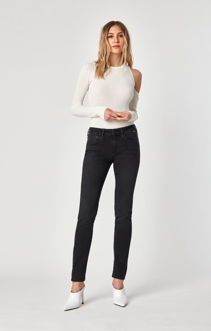 ALEXA SKINNY IN DARK SMOKE SUPERSOFT - Mavi Jeans