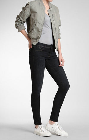 ALISSA SUPER SKINNY IN RINSE BRUSHED GOLD LUX MOVE - Mavi Jeans