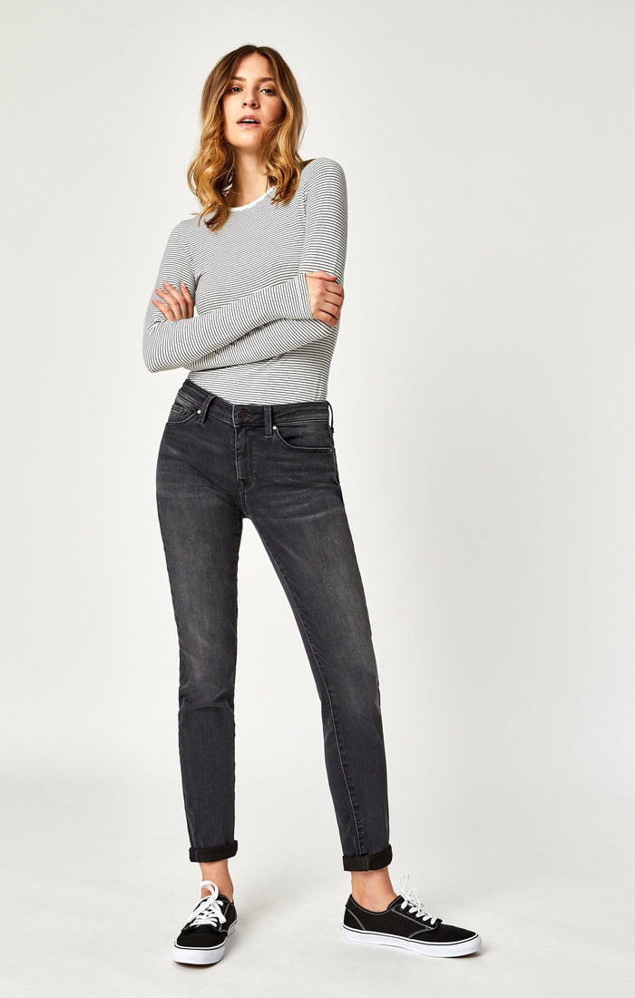ADRIANA SUPER SKINNY IN DARK SMOKE SUPERSOFT - Mavi Jeans