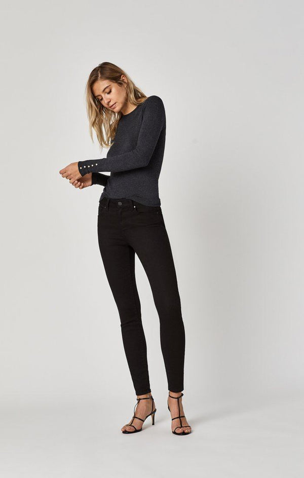 ADRIANA SUPER SKINNY IN DOUBLE BLACK TRIBECA - Mavi Jeans