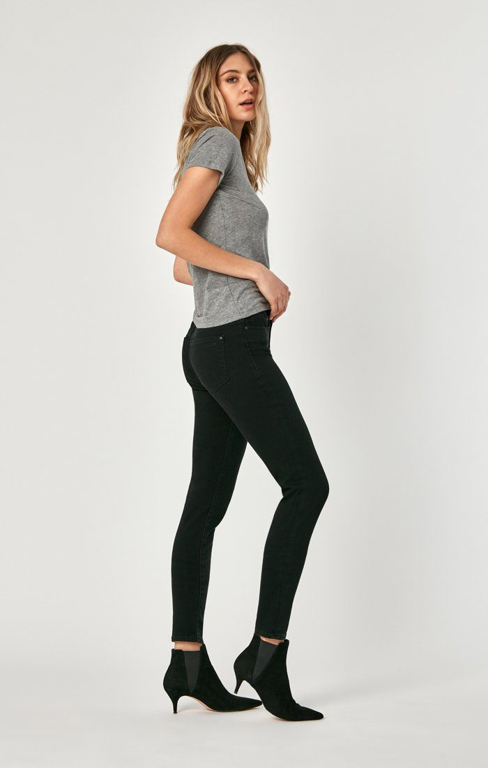 ALISSA SUPER SKINNY IN BLACK BRUSHED SUPERSOFT Image 4