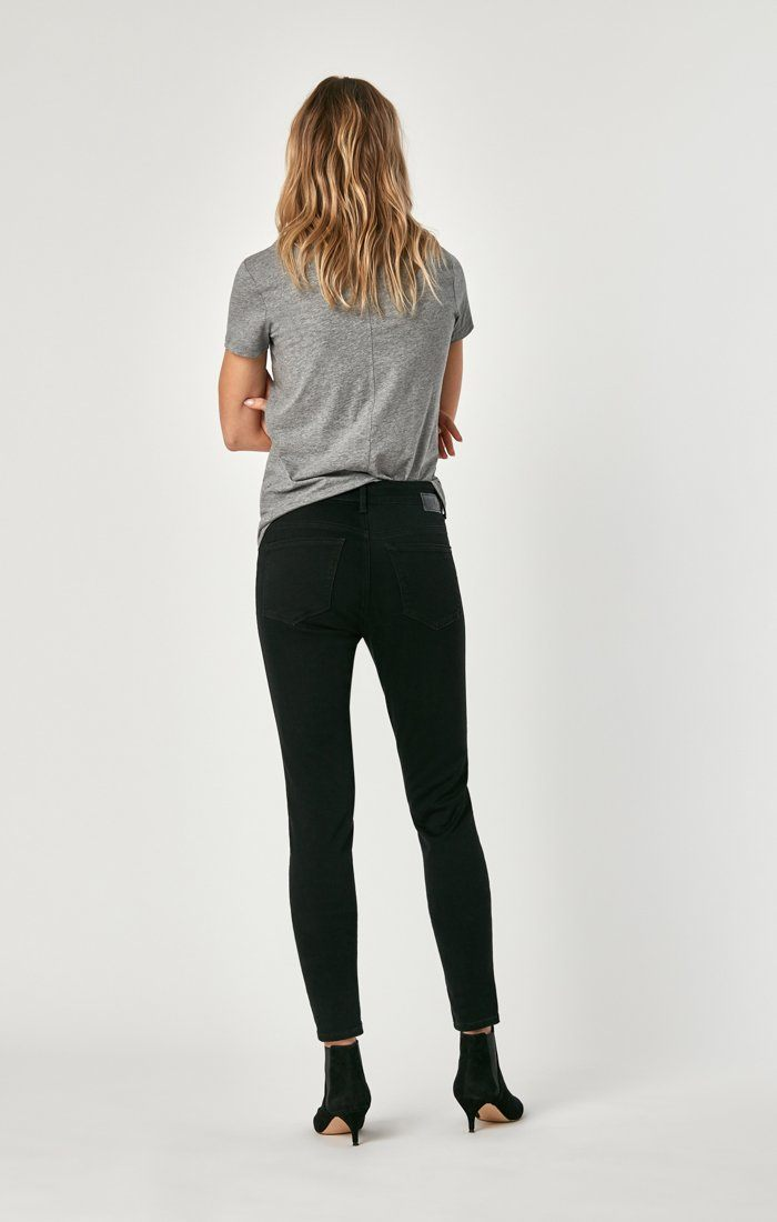 ALISSA SUPER SKINNY IN BLACK BRUSHED SUPERSOFT Image 6