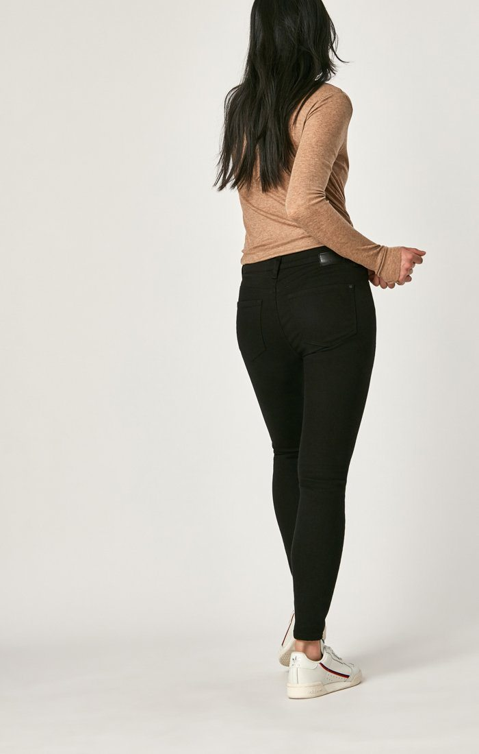 ALISSA SUPER SKINNY IN BLACK TRIBECA - Mavi Jeans