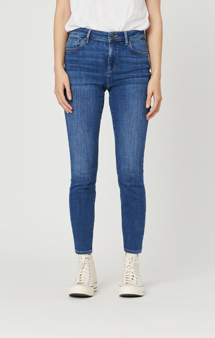 ALISSA SUPER SKINNY JEANS IN DARK FEATHER BLUE Image 3