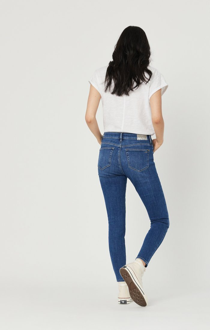 ALISSA SUPER SKINNY JEANS IN DARK FEATHER BLUE Image 2