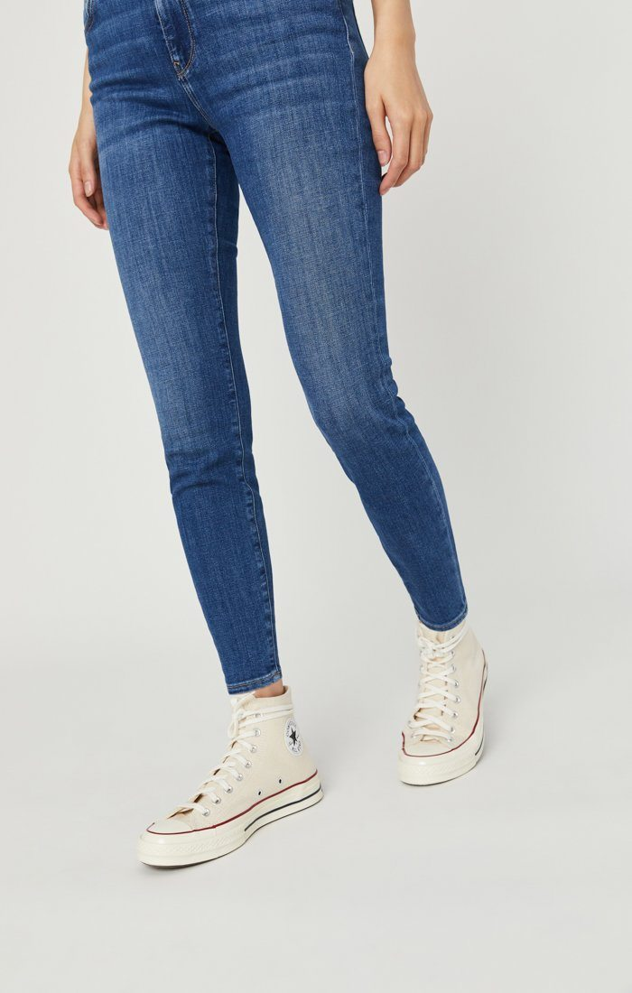 ALISSA SUPER SKINNY JEANS IN DARK FEATHER BLUE Image 6