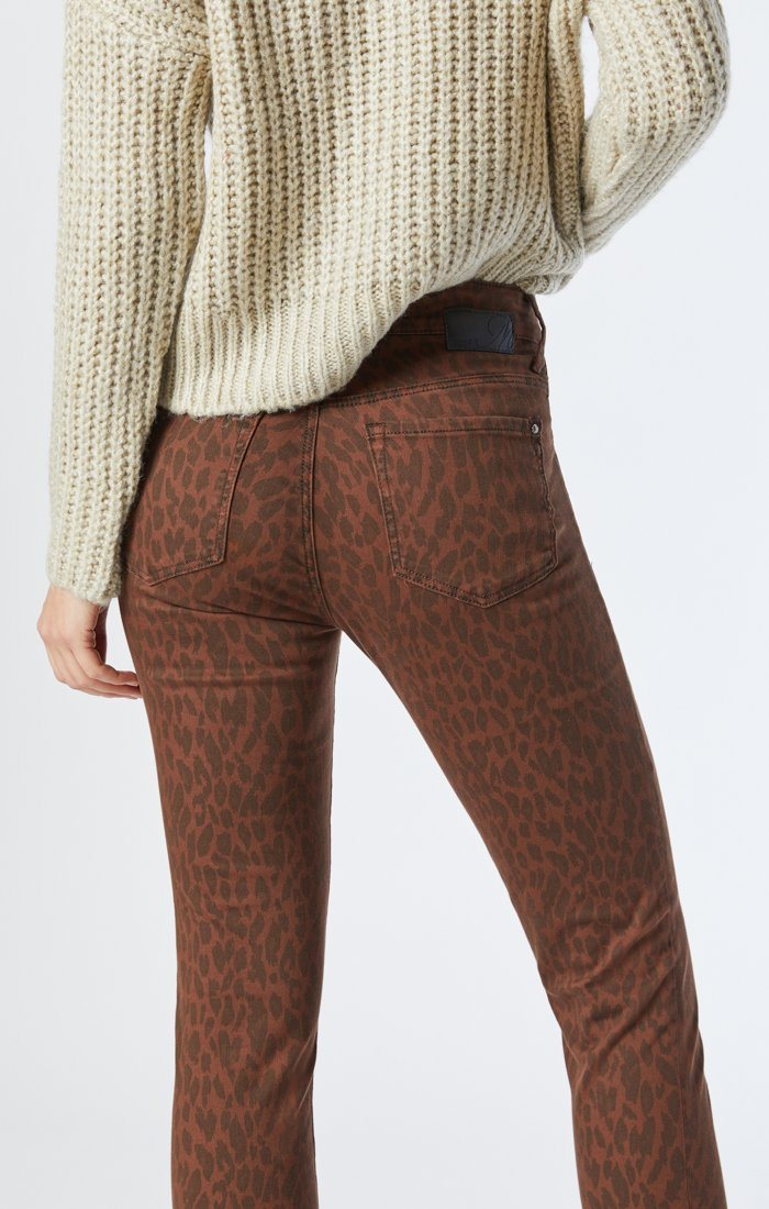 ALISSA SUPER SKINNY JEANS IN BROWN LEO STRETCH Image 4