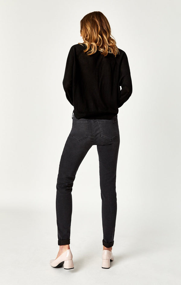 ALISSA SUPER SKINNY IN DARK SMOKE SUPERSOFT - Mavi Jeans