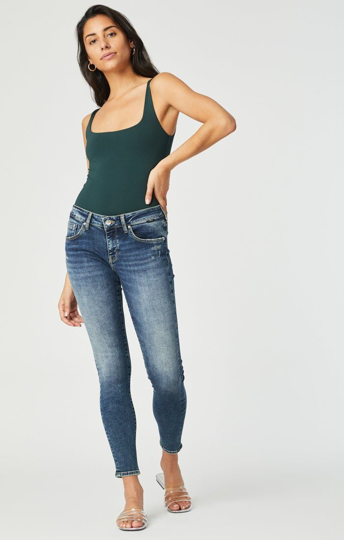 ADRIANA SUPER SKINNY IN MID DISTRESSED ORGANIC MOVE Image 1