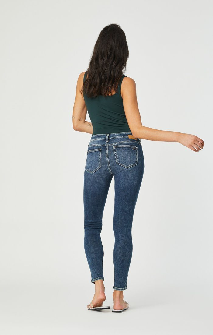 ADRIANA SUPER SKINNY IN MID DISTRESSED ORGANIC MOVE Image 2