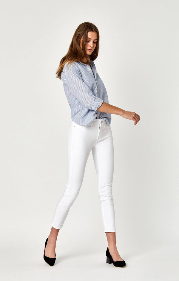 ADRIANA ANKLE SUPER SKINNY IN WHITE TRIBECA - Mavi Jeans