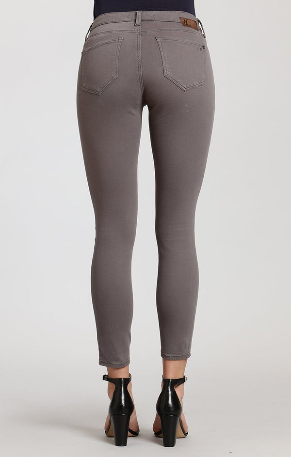 ADRIANA ANKLE SUPER SKINNY IN GRANITE GREY TWILL - Mavi Jeans