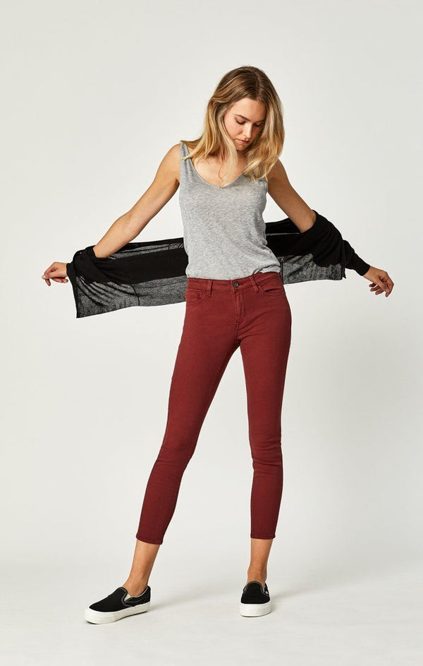 ADRIANA ANKLE SUPER SKINNY  IN SPICED APPLE TWILL - Mavi Jeans