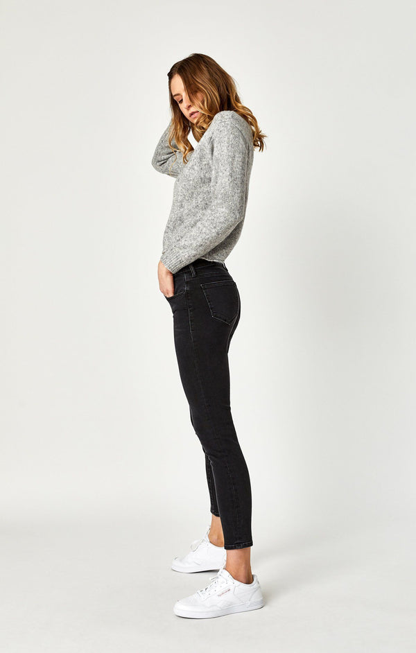 ADRIANA ANKLE SUPER SKINNY IN SMOKE SHINE - Mavi Jeans