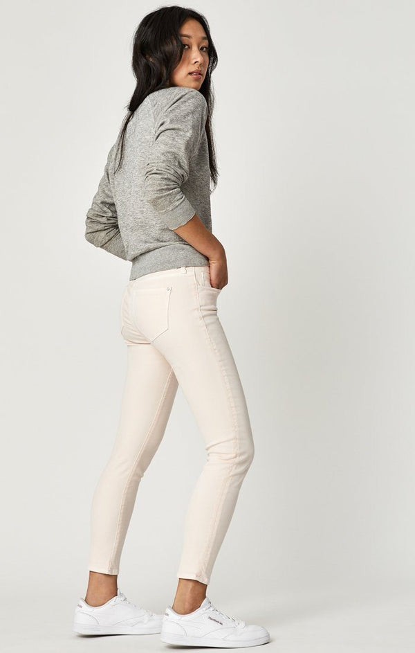 ADRIANA ANKLE SUPER SKINNY IN MAUVE MORNING TWILL - Mavi Jeans