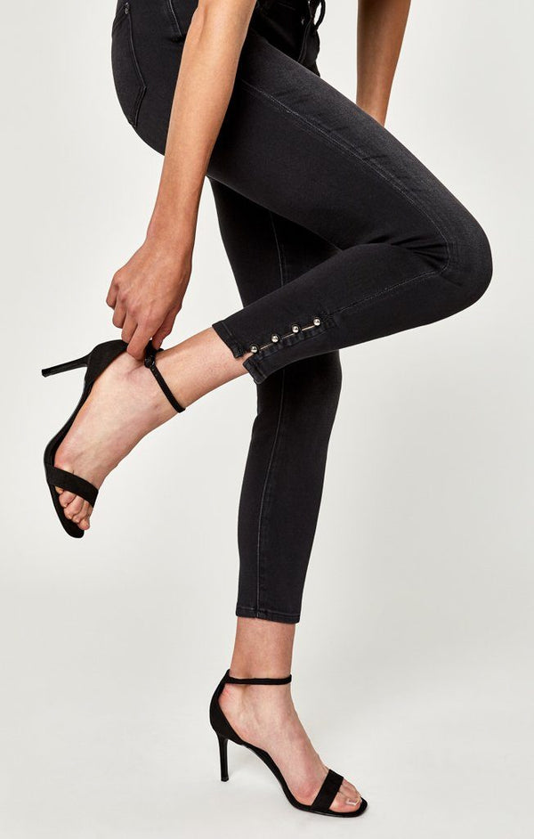 ADRIANA ANKLE SUPER SKINNY IN SMOKE PEARL STR - Mavi Jeans