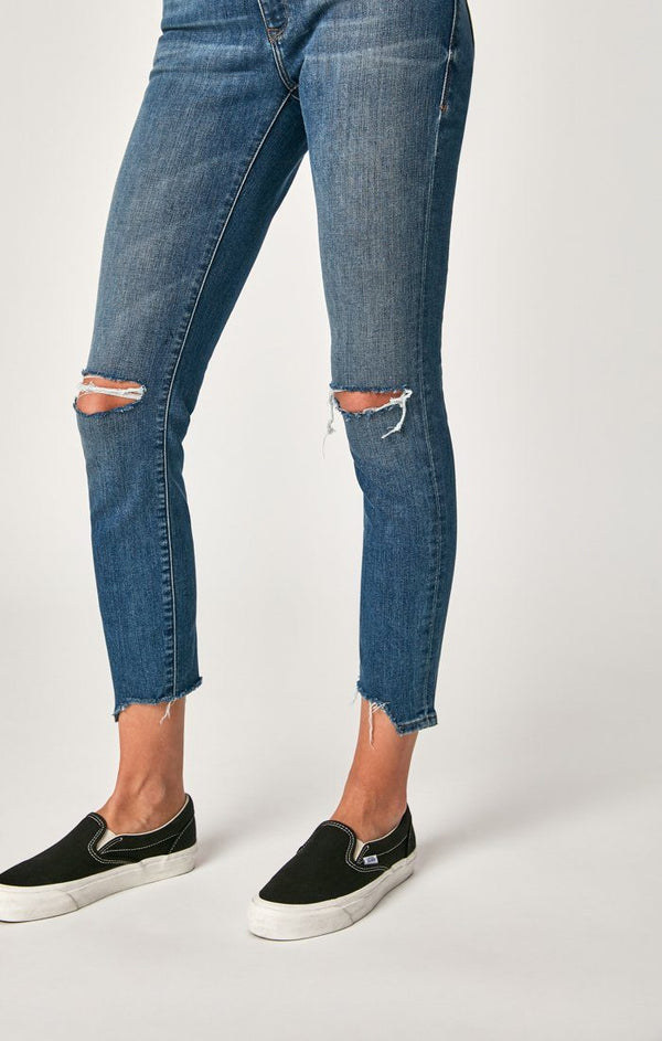 ADRIANA ANKLE SUPER SKINNY IN MID RIPPED VINTAGE - Mavi Jeans