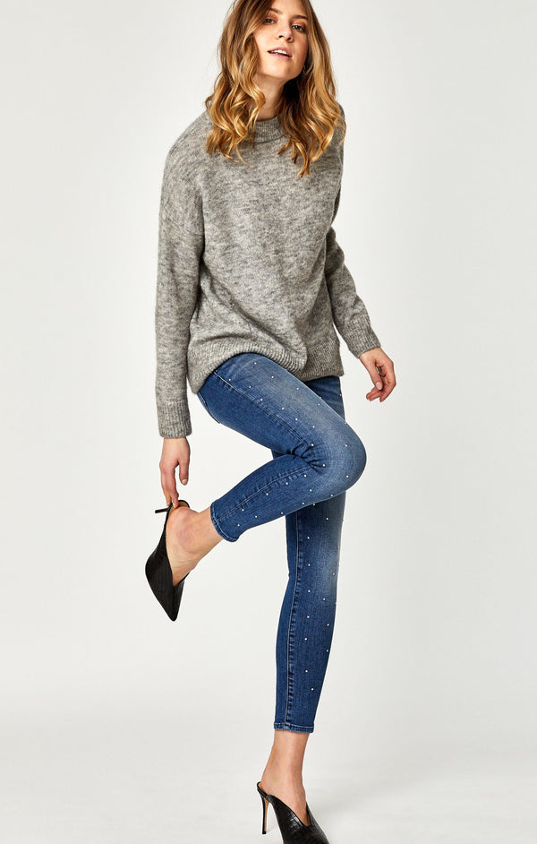 LEXY SUPER SKINNY  IN INDIGO GOLD SHINE - Mavi Jeans