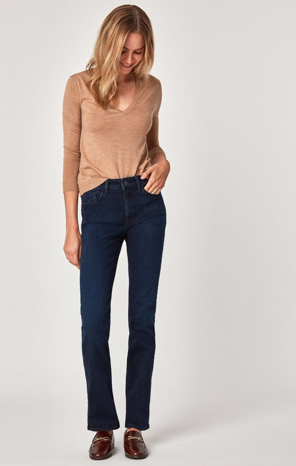 KENDRA STRAIGHT LEG IN INK RINSE GOLD PIMA - Mavi Jeans