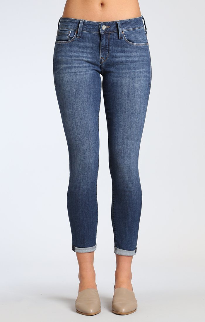 ALEXA ANKLE SKINNY IN DARK INDIGO TRIBECA