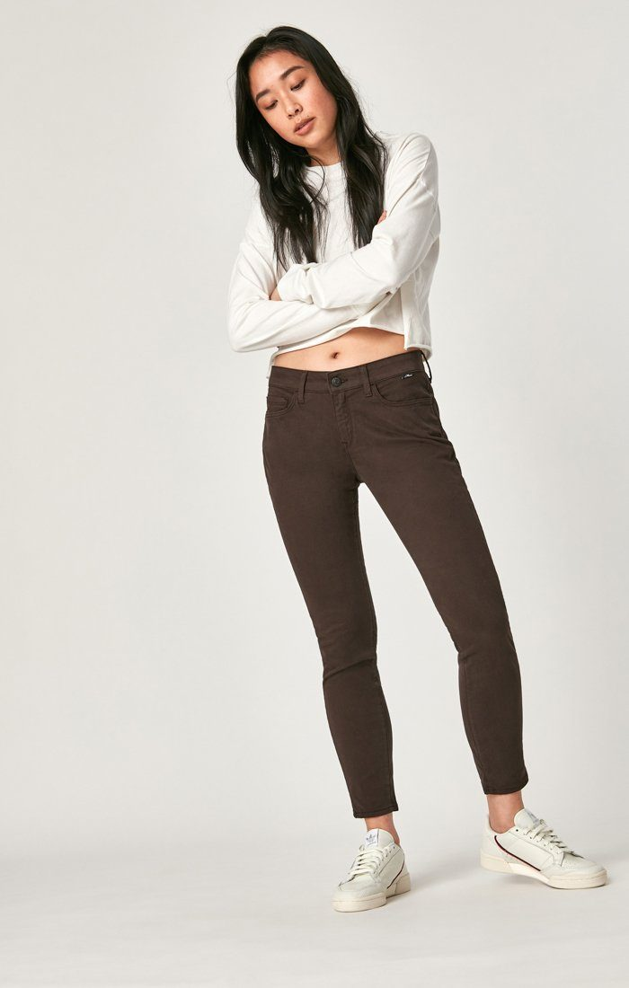 ALEXA ANKLE SKINNY IN BLACK COFFEE SATEEN - Mavi Jeans