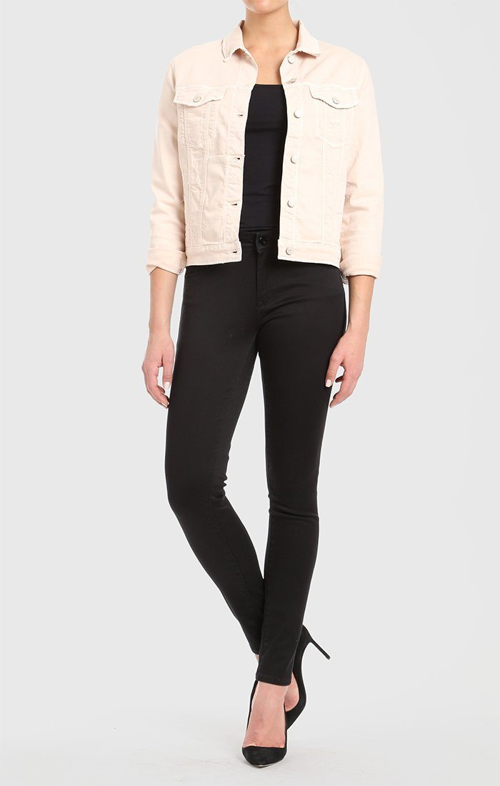 KATY JACKET IN HEAVENLY PINK DISTRESSED - Mavi Jeans