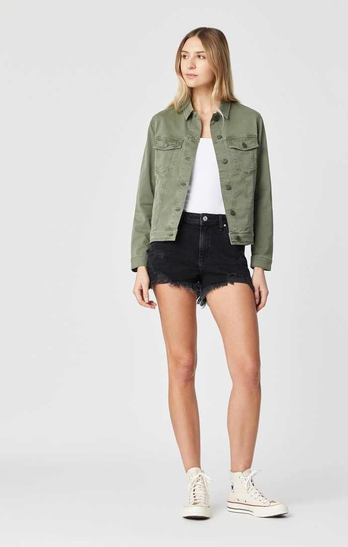 KATY JACKET IN KHAKI TWILL Image 8