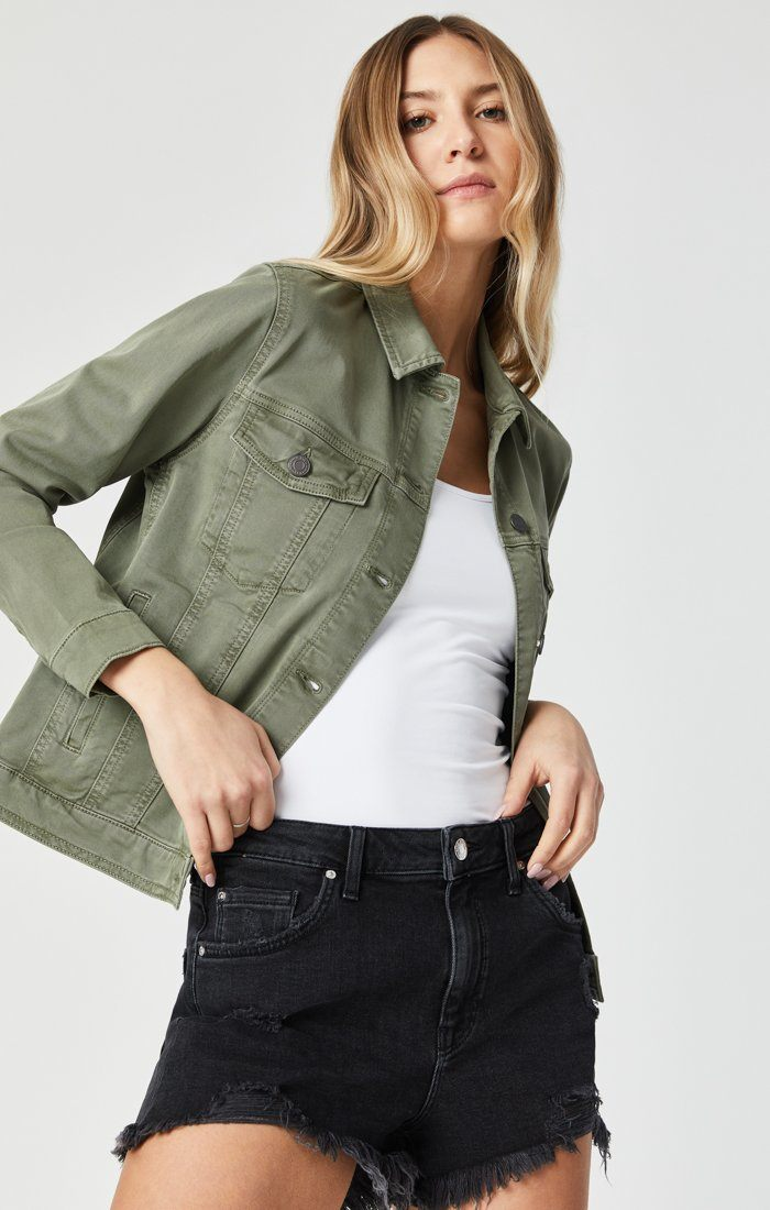 KATY JACKET IN KHAKI TWILL Image 1