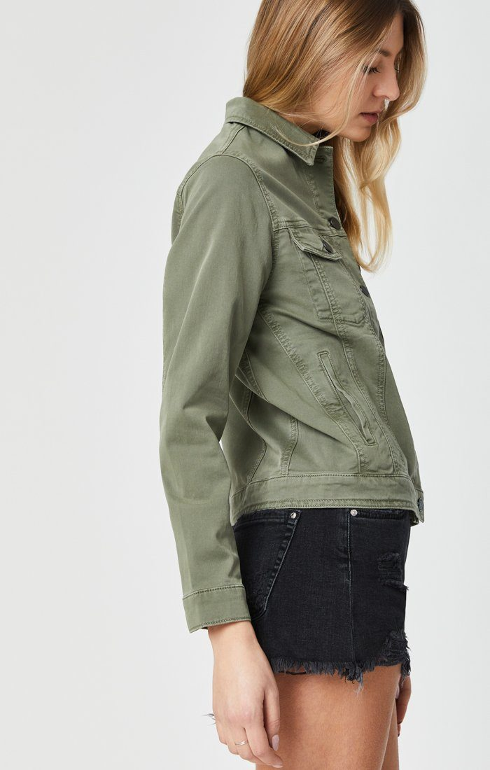 KATY JACKET IN KHAKI TWILL Image 3