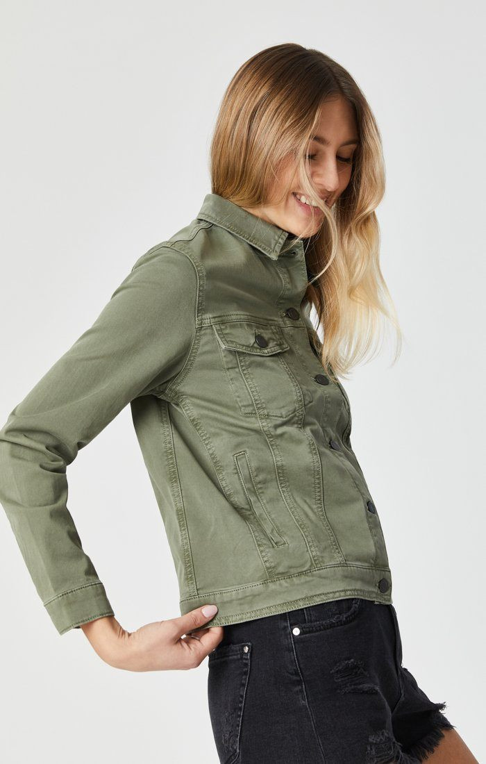 KATY JACKET IN KHAKI TWILL Image 2