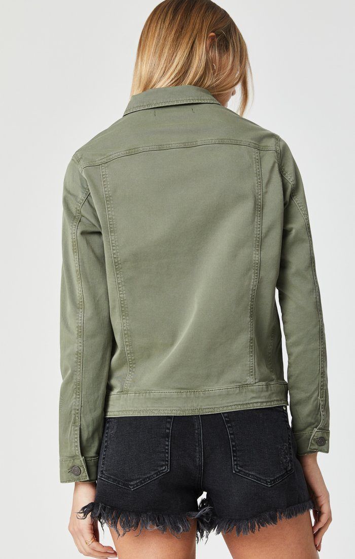 KATY JACKET IN KHAKI TWILL Image 4